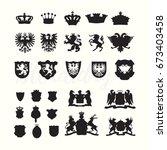 heradlry coat of arms nobel... | Shutterstock .eps vector #673403458