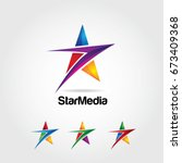 abstract colorful star logo...   Shutterstock .eps vector #673409368