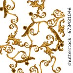 golden baroque | Shutterstock . vector #673431046