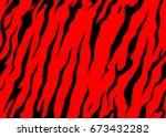 stripe animal jungle bengal... | Shutterstock .eps vector #673432282