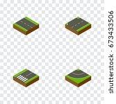 isometric way set of upwards ...   Shutterstock .eps vector #673433506