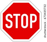 stop  give way    right of way... | Shutterstock .eps vector #673435732