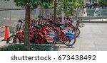 tokyo  japan   july 8th 2017.... | Shutterstock . vector #673438492