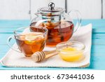 Glass Cup Of Tea With Lemon ...