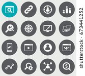 set of 16 search icons set...