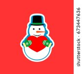 snowman with heart icon ...