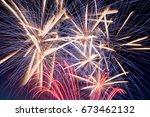 Details Of Fireworks  Red  Blu...