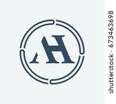 ah logo design | Shutterstock .eps vector #673463698