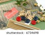 a selection of scrapbooking  ... | Shutterstock . vector #6734698