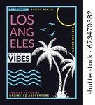 california  los angeles vector... | Shutterstock .eps vector #673470382