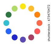 color wheel palette circles | Shutterstock .eps vector #673470472