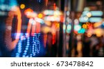 display of stock market quotes... | Shutterstock . vector #673478842