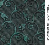metal seamless texture with... | Shutterstock . vector #673479862