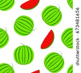 summer positive vector seamless ... | Shutterstock .eps vector #673481656