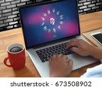 horoscope astrology zodiac... | Shutterstock . vector #673508902