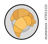 bread wheat food vector | Shutterstock .eps vector #673511122