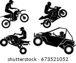 extreme sports lift off set | Shutterstock .eps vector #673521052