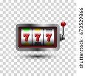 slot machine  icon. vector... | Shutterstock .eps vector #673529866