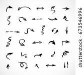hand drawn arrows  vector set | Shutterstock .eps vector #673546996