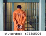 Handcuffed Prisoner In Jail