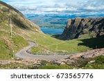the bealach na ba  pass of the... | Shutterstock . vector #673565776