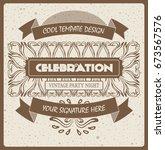 vintage template design | Shutterstock .eps vector #673567576