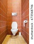 an public toilet in an public... | Shutterstock . vector #673568746