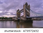 london tower bridge abstract... | Shutterstock . vector #673572652
