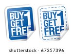 buy one get one free ... | Shutterstock .eps vector #67357396