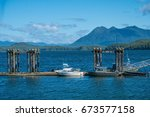 tofino on the west coast of... | Shutterstock . vector #673577158