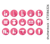 makeup icon set vector... | Shutterstock .eps vector #673586326
