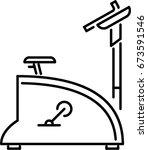 exercise bike outline icon | Shutterstock .eps vector #673591546