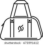 sport bag outline icon | Shutterstock .eps vector #673591612