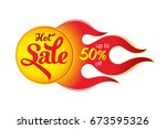 hot sale price offer deal... | Shutterstock .eps vector #673595326