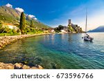 Town Of Malcesine Castle And...