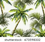 beautiful seamless vector... | Shutterstock .eps vector #673598332