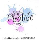 handmade watercolor design of... | Shutterstock . vector #673603066