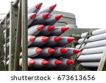 rockets  weapons of mass... | Shutterstock . vector #673613656