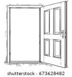 vector cartoon of open elegant... | Shutterstock .eps vector #673628482