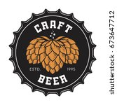 illustration of craft beer... | Shutterstock .eps vector #673647712