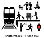 people at the railway station   ... | Shutterstock .eps vector #67365553