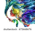 color thinking series. human... | Shutterstock . vector #673668676