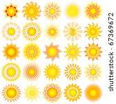 vector sun collection   Shutterstock .eps vector #67369672