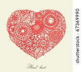 Floral Heart  Love Or...