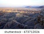 Hazy Hot Vast Desert Landscape...