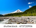 fresh and wonderful view of mt... | Shutterstock . vector #673720906