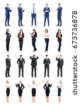 set of business people isolated ... | Shutterstock . vector #673736878