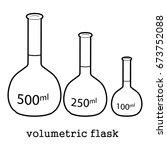 volumetric flask icon in...   Shutterstock .eps vector #673752088