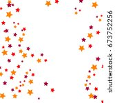 star falling confetti print....   Shutterstock .eps vector #673752256