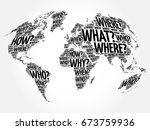 Question Words World Map In...